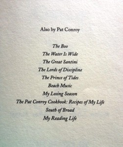 Pat-Conroy-Reading-List